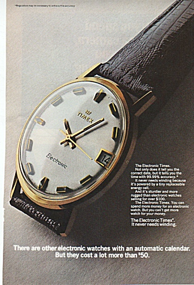 Timex electronic watch ad 1969 (Image1)