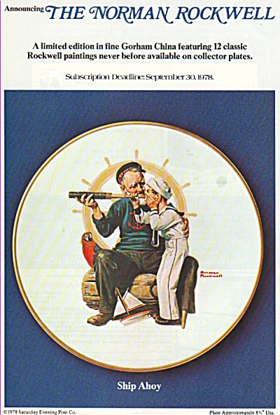 The Norman Rockwell Painting Ship Ahoy - 1978