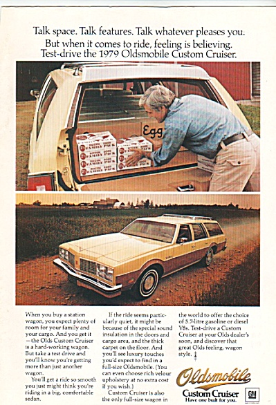 Oldsmobile Custom Cruiser Ad 1978