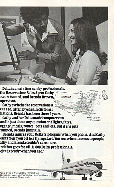 Delta airlines ad 1978 CATHY COWART (Image1)
