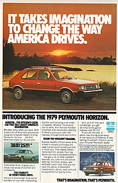 Plymouth Horizon  for 1979 ad (Image1)