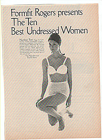 The Mabs Bra Feather Party Ad 1970 Peggy Richards