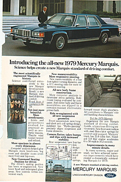 Mercury Marquis For 1979 Ad