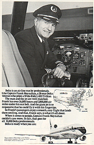 Delta airlines ad 1979 CAPT FRANK MOYNAHAN (Image1)
