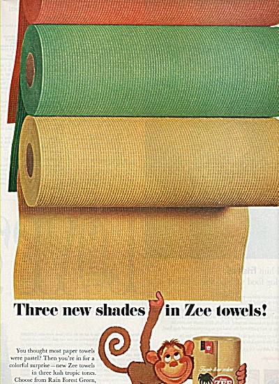 Zee Towels Ad 1970