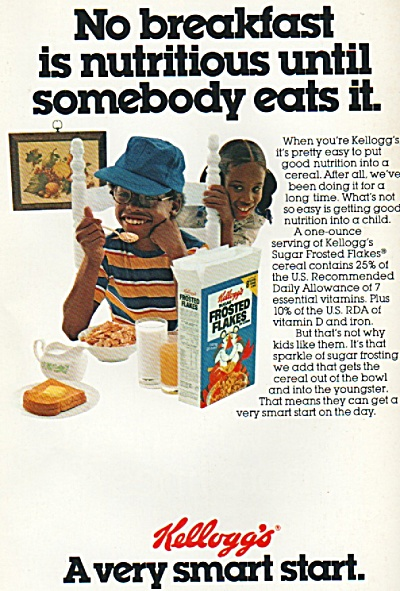 Kellogg's Frosted Flakes Ad 1979
