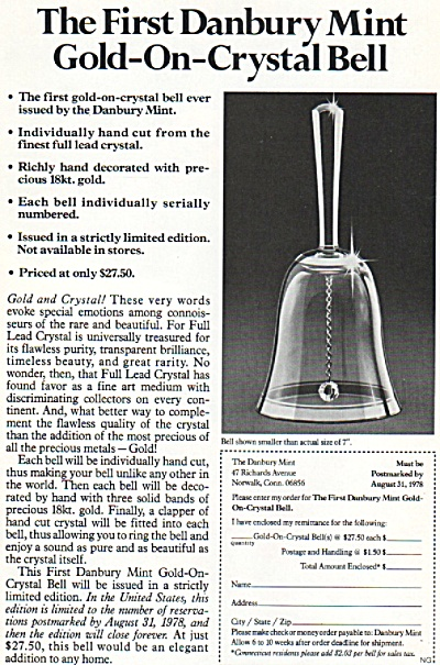 The first danbury mint bell ad 1978 (Image1)