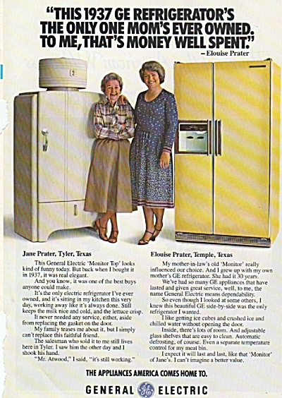 General Electric refrigerator ad 1978 (Image1)