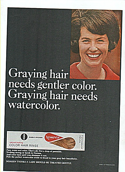 Noreen color hair rinse ad 1970 (Image1)