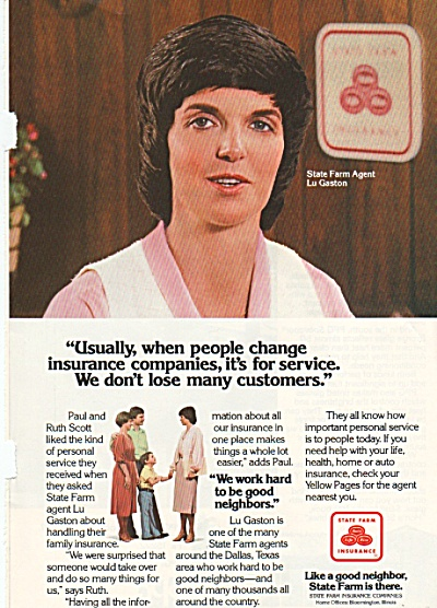 State Farm insurance ad 1979 (Image1)