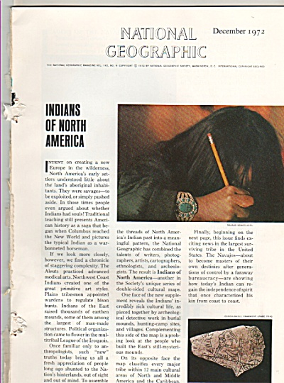 INDIANS  OF NORTH AMERICA - 1972 (Image1)