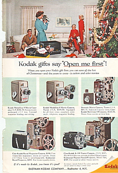 Kodak Camera Ad 1957