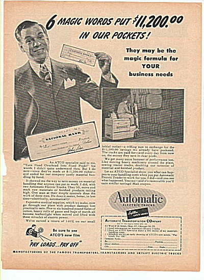 Automatic electric trucks ad 1947 (Image1)