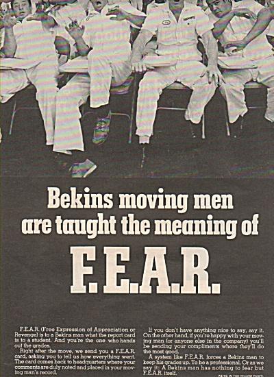F.E.A.R.  -  Bekins Man ads 1970 (Image1)