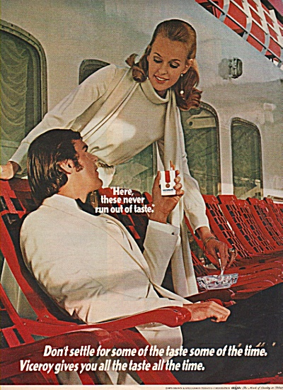 Viceroy cigarettes ad 1970 COOL COUPLE (Image1)
