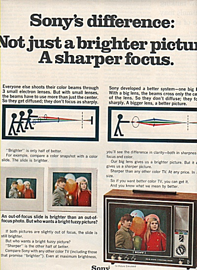 Sony Trinitron color TV ad 1970 (Image1)