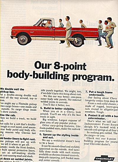 Chevrolet fleetside pickup ad 1970 (Image1)