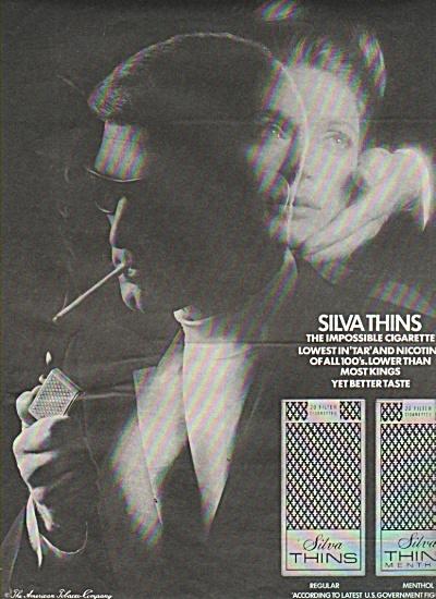 Silva thins cigarete ad 1969 (Image1)