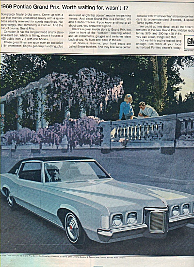 Pontiac Grand Prix for 1969 ad (Image1)