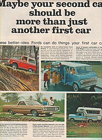 Ford Trucks And Vans Ad 1969