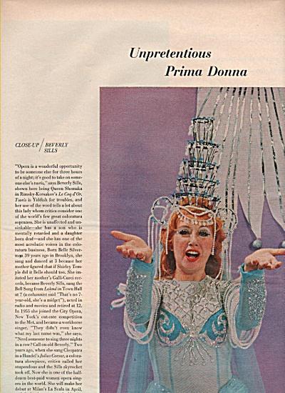 BEVERLY SILLS  - Opera star  1969 (Image1)