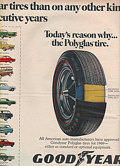 Goodyear polyglas tire ad 1969 (Image1)