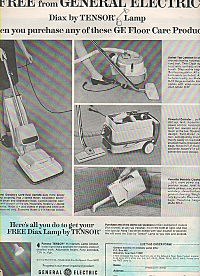 General Electric Diax by TEnsor lamp ad 1969 (Image1)