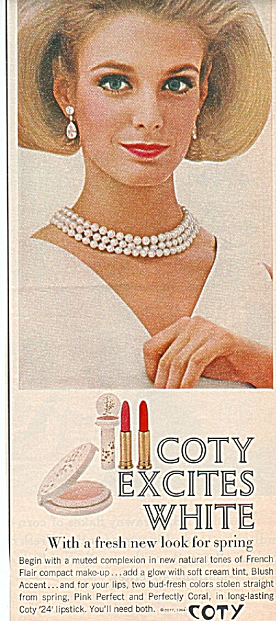 Coty compact make up ad 1964 (Image1)