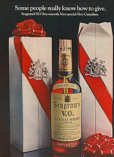 Seagram's V.O. Canadian whisky ad 1970 (Image1)