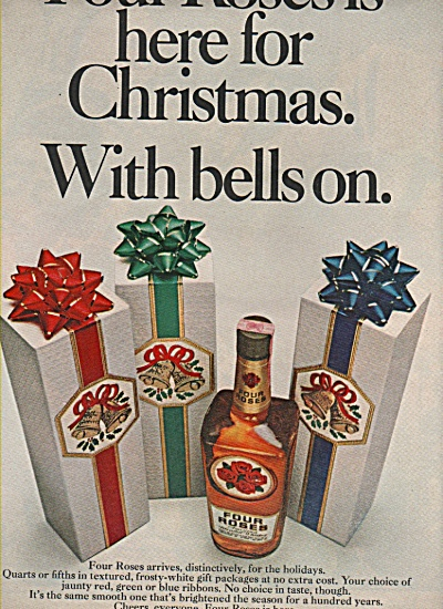 Four Roses Whiskey Ad 1970