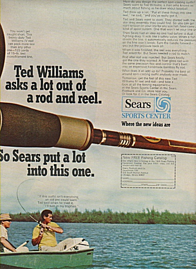 Sears Sportss center - TED WILLIAMS  ad 1969 (Image1)
