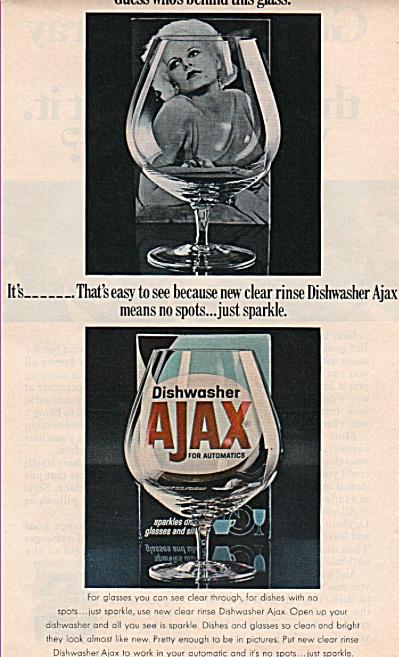 Ajax dishwasher  - JEAN HARLOW  ad 1969 (Image1)