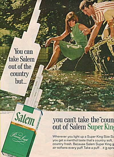 Salem cigarettes ad 1969 COUPLE IN WATER (Image1)