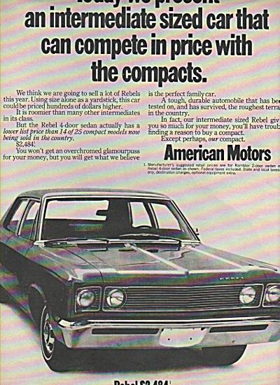 Anmerican Motors Rebel & rambler ad 1969 (Image1)