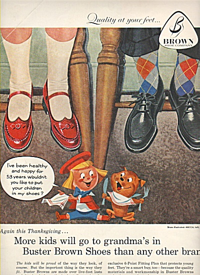 Buster Brown shoes ad 1957 (Image1)