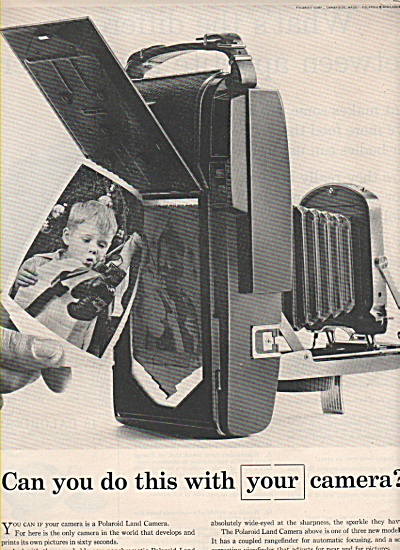 Polaroid Land Camera Ad 1957