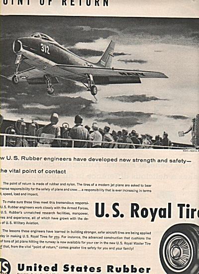 U. S. Royal tires ad 1957 (Image1)