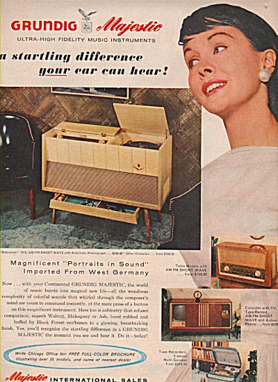 Majestic International Sales Ad 1957