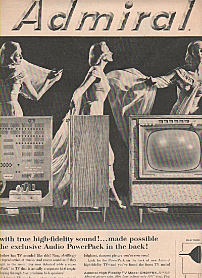 Admiral Television Ad 1957