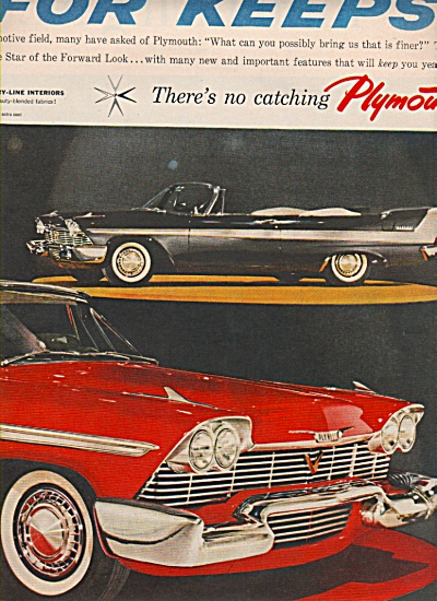 Plymouth autos for 1957 ad (Image1)