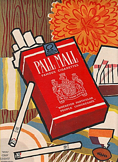 Pall Mall famous cigarettes ad 1957 (Image1)