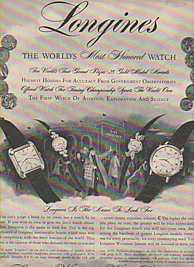 Longines Wittnauer Watch Company Ads 1058