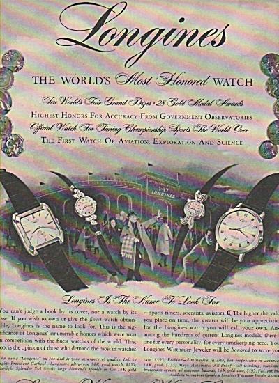 Longines Wittnauer Watch Company ads 1058 (Image1)
