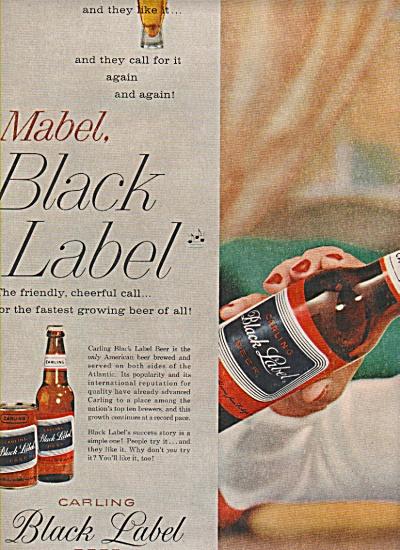 Carling Black label beer ads 1957 (Image1)