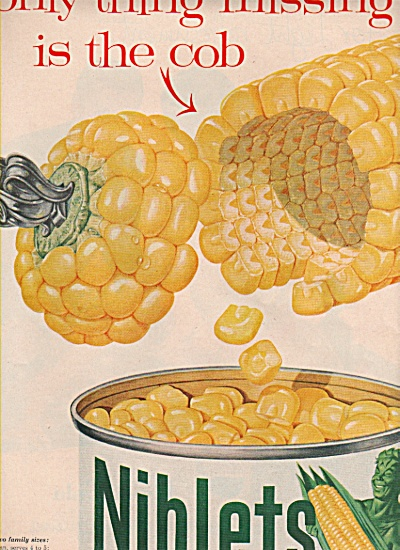 Niblets Green Giant corn ad 1957 (Image1)