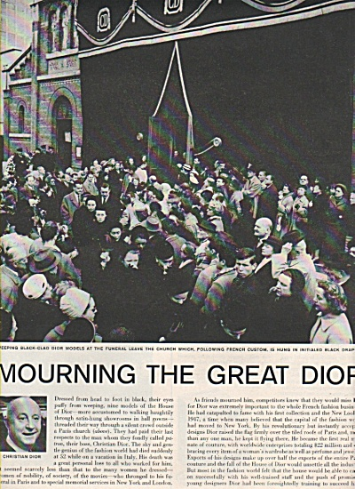 The Death of CHRISTIAN DIOR  1957 (Image1)