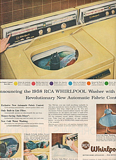 RCA whirlpool appliances for 1958 ad (Image1)
