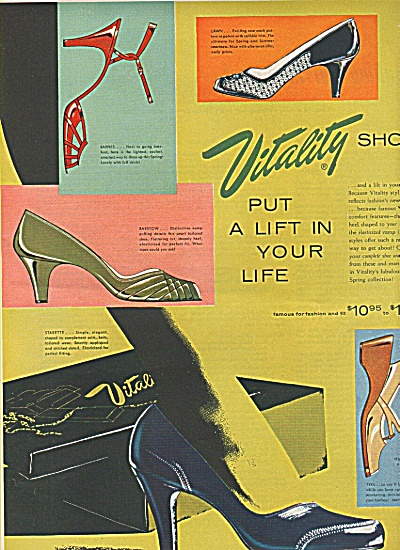 Vitality Shoes Ad 1955