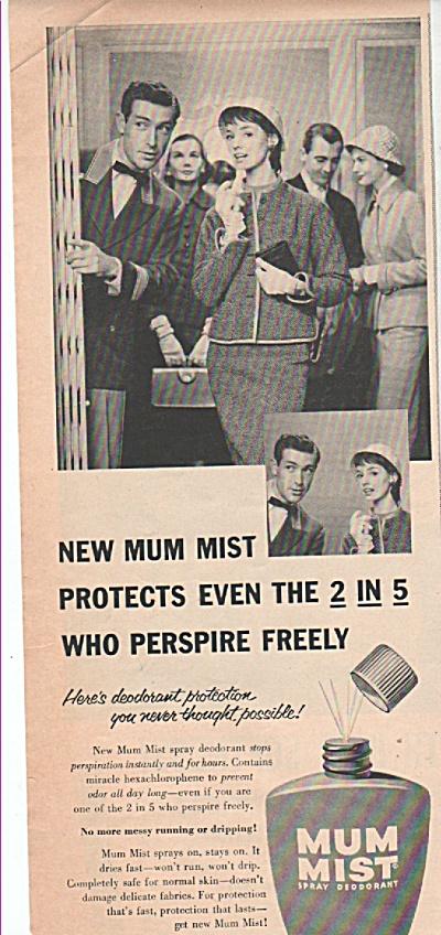 Mum mist spray deodorant ad 1955 (Image1)