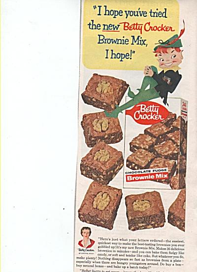Betty Crocker brownie mix ad 1955 (Image1)
